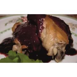 Цыпленок под ежевичным соусом
